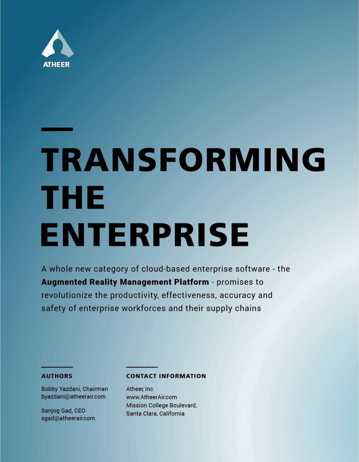 Transforming the Enterprise - Atheer Whitepaper